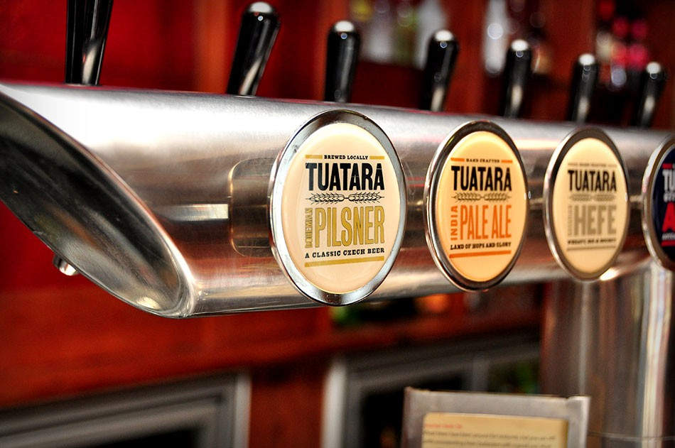 Tuatara Beer on Tap at One Red Dog Restaurant and Bar in Wellington