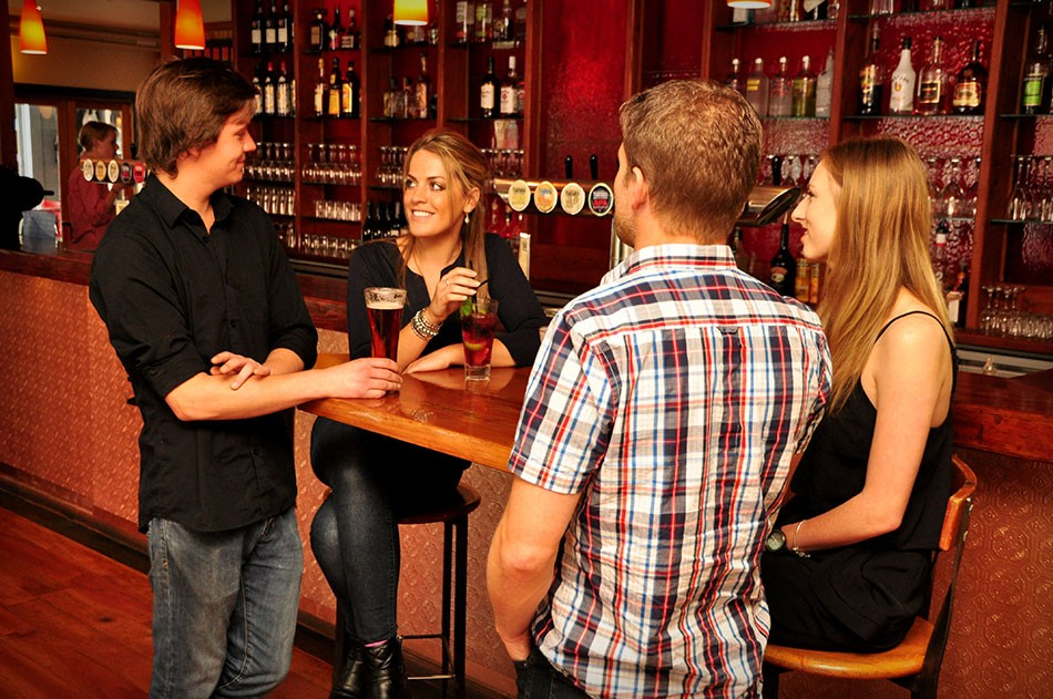 Drinks by the Bar at One Red Dog Restaurant in Wellington