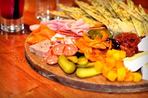 One Red Dog Platter